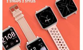 Smartwatch 17 modos deportivos, frecuencia cardíaca, seguimiento menstrual, 2 correas, impermeble (IP68) por 28,19€ antes 46,99€.