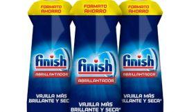 Pack de tres envases de abrillantador para lavavajillas Finish (3×800 ml) por sólo 14,99€.