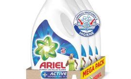 Oferta Black Friday! 4 Envases de Detergente líquido para lavadora Ariel + Active Odor Defense (4×40=160 lavados) por sólo 38,24€.
