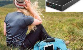 Oferta del día! Batería externa Quick Charge Aukey de 20.000mAh con entrada Lightning y micro USB por sólo 23,74€.