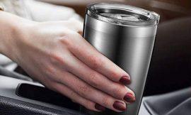 Vaso térmico de acero inoxidable Brewsly, 600ml por 6,99€.