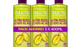 3 Envases de Crema sin aclarado Garnier Nutri Rizos (3x400ml) por 9,55€.