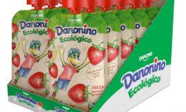 12 Unidades de Yogur líquido Danonino sin azúcares añadidos con fresa, manzana y plátano por sólo 8,40€.