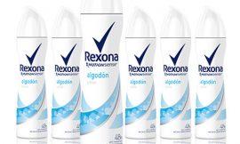 Oferta Black Friday! Pack de seis desodorantes Rexona Algodón con tecnología Motion Sense (6x200ml) por 9,80€.