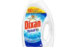 Detergente líquido para lavadora Dixan Gel Total (60 lavados) por sólo 5,94€.