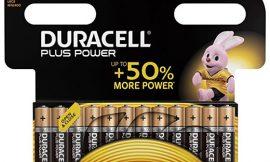 24 Pilas alcalinas Duracell Plus AAA por 13,43€ y AA 11,55€.