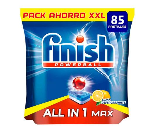 Oferta Black Friday! Finish Todo en uno Max, envase de 85 tabletas Finish para lavavajillas con perfume limón por 14,99€.