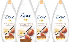 4 Botellas de gel de ducha Dove Nutritivo con Karité y vainilla (4x500ml ) por 8,61€.