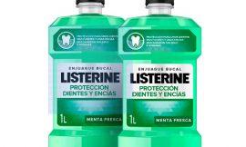 Oferta Black Friday! Enjuague bucal Listerine Protección Dientes y encías (2x1000ml) por sólo 9,49€.
