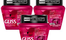 3 Mascarillas para el cabello Gliss Ultimate Color (3x300ml) por sólo 8,68€.