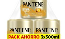3 Envases de mascarilla Pantene Pro-V Repara y Protege para cabello seco o dañado (3 x 300ml) por sólo 10,50€.