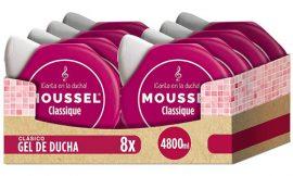 Lote de 8 envases de Gel de baño hidratante Moussel Classique con Aceites Esenciales Naturales (8 x 600 ml) por 11,99€.