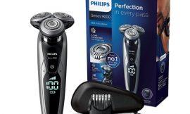 Afeitadora Philips Serie 9000 S9711/32 con accesorio barbero, cargador con autolimpieza y lubricación, display digital y funda de viaje por 159,99€ antes 206,84€.