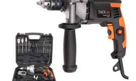Taladro percutor Tacklife PID03B, 850W con caja de herramientas y empuñadura giratoria por 44,79€.