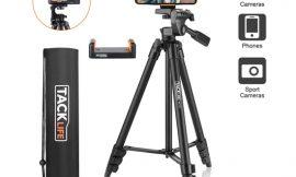 Trípode de aluminio para cámaras de fotos, deportivas y smartphones Tacklife MLT01 (40.5/136cm) por 17,97€ antes 27,97€.