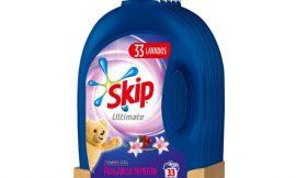 5 Botellas de Detergente líquido para lavadoras Skip Ultimate Triple Poder con Fragancia Mimosin, ( 5x33lavados) por sólo 24,00€
