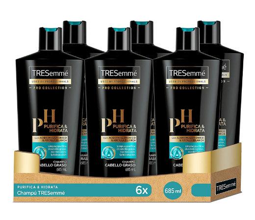 En este momento estás viendo Oferta Black Friday! 6 Botellas de Champú para cabellos grasos TRESemmé Purifica & Hidrata (6x685ml) por sólo 19,75€.