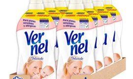8 botellas de suavizante Vernel delicado para pieles sensibles (456 lavados) por 17,50€.