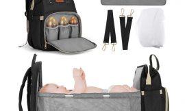 Mochila de maternidad Joseko, gran capacidad, cambiador/cama, impermeable por 27,99€ antes 39,99€.