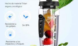 Botella de hidratación de trintan con filtro para frutas por 5,99€.