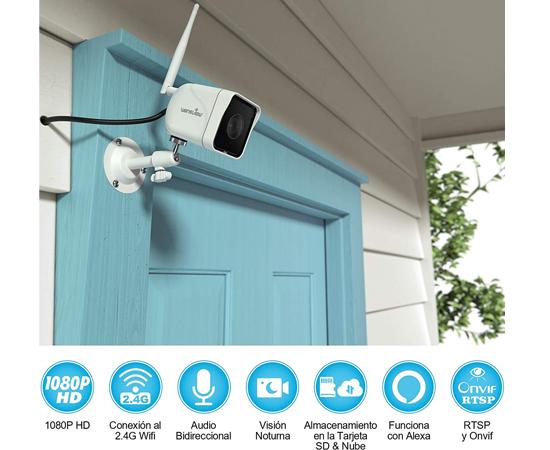 En este momento estás viendo Cámara de vigilancia exterior Wansview W6 1080P HD, compatible Alexa, visión nocturna, detección de movimiento, audio bidireccional, IP66 por 19,99€ antes 39,99€.