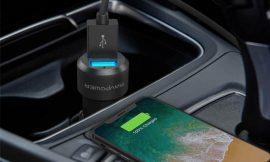 Cargador de coche fabricado en aluminio RAVPower, 2 USB carga rápida iSmart por 5,99€.