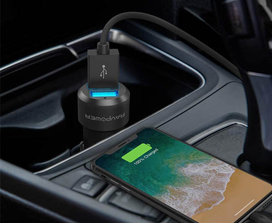 En este momento estás viendo Cargador de coche fabricado en aluminio RAVPower, 2 USB carga rápida iSmart por 5,99€.