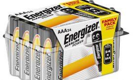 Pack de 24 pilas alcalinas AA Energizer E92 por sólo 10,24€.