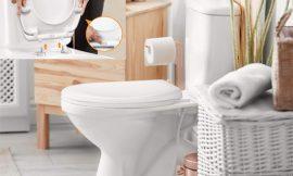 """Tapa universal para WC Tacklife con forma de """"O"""" y caída lenta por 21,59€ antes 35,99€."""