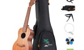 Ukelele acústico soprano 23″ color madera con bolsa, cuerdas de repuesto y afinador por 37,76€ antes 68,66€.
