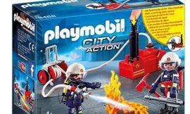 Playmobil City Action bomberos con bomba de agua por sólo 11,20€.