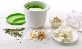 Recipiente para hace queso fresco Lékué por 18,99€, antes 35,90€.