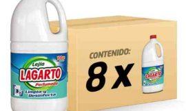 8 Botellas de lejía perfumada Lagarto (8x1500ml) por sólo 7,35€.