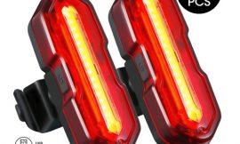 2 luces impermeables para bicicletas Topelek (5 modos de brillo, blanca o roja) por 11,55€.