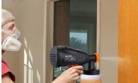 Pistola de pintura Meterk 400W/800ml, 3 boquillas de pulverización por 27,99€.