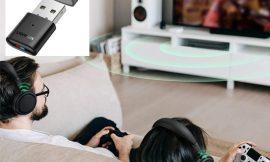 Adaptador  de audio bluetooth 5.0 A2DP Ugreen, compatible con PS5, PS4, PS4 Pro, Nintendo Swtich, Laptop etc por 7,99€.