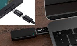 3 adaptadores Aukey puerto micro USB a USB tipo C (color blanco o negro) por 4,19€.