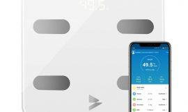 Bascula de baño inteligente Hosome, 17 tipos de analisis, IOS y Android, app compatible con Apple Health y Google Fit por 14,99€ antes 29,99€.