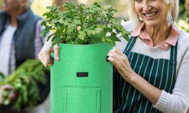 2 bolsas para cultivar patatas, zanahorias, tomates, cebollas y todo tipo de plantas (43L unidad) por 7,14€.