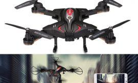 Drone plegable Flytise TK110HW rojo o negro, WiFi FPV, barómetro, sensor de gravedad, batería 850mAh por 29,99€ antes 99,96€.