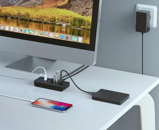 En este momento estás viendo Hub Aukey CB-H19 con 4 puertos USB 3.0 y 3 puertos de carga rápida, con adaptador de corriente 36W por 21,99€.