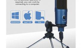 Micrófono condensador Eivotor por 17,49€ antes 24,99€.