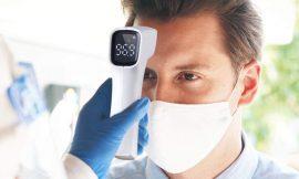 Termómetro sin contacto para cuerpo niños/adultos/objetos y ambiente por 13,99€.