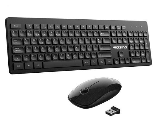 En este momento estás viendo Combo T1 Victsing de teclado y ratón inalámbrico con receptor USB por sólo 12,94€.