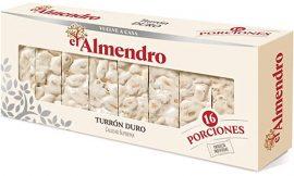Turrón duro cortado El Almendro 400 gramos por 7,23€.