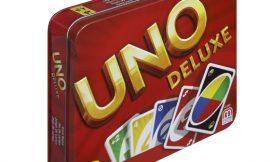 Juego de cartas Uno Deluxe por sólo 12,99€.