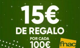 Recibe 15 euros de regalo por cada 100 euros de compra en Fnac.es.