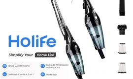 Aspirador escoba Holife 2 en 1, aspirador escoba y de mano inalámbrico con filtrado HEPA (2 unidades lavables) por 34,72€ antes 53,88€.