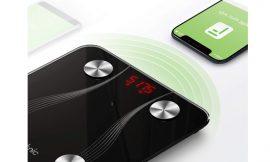 Báscula inteligente iTeknic compatible con Apple Health, Google Fit, Fitbit etc por 22,99€.