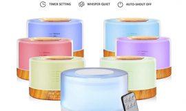 Difusor de aromas ultrasónico con mando a distancia, 500ml por 17,99€ antes 29,98€.